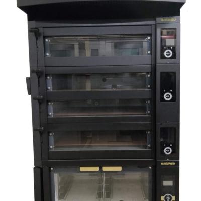 Печь подовая WIESHEU EBO 86 L EXCLUSIVE, WIESHEU EBO 86 S EXCLUSIVE (2 шт), расстоечный шкаф WIESHEU, вытяжка WIESHEU